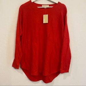 NWT Michael Kors Red Longsleeve Sweater Small